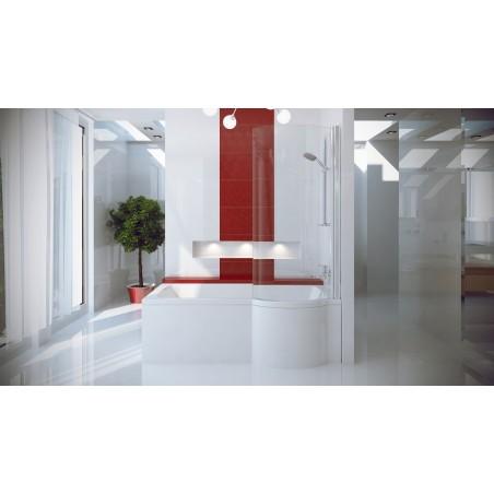 INSPIRO badekar med dusjvegg